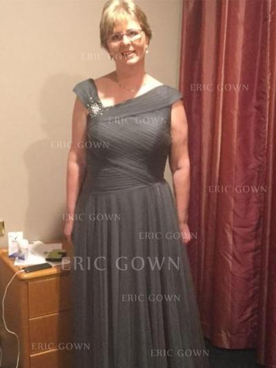 A-Line/Princess Chiffon Sleeveless V-neck Floor-Length Zipper Up Mother of the Bride Dresses (008212723)