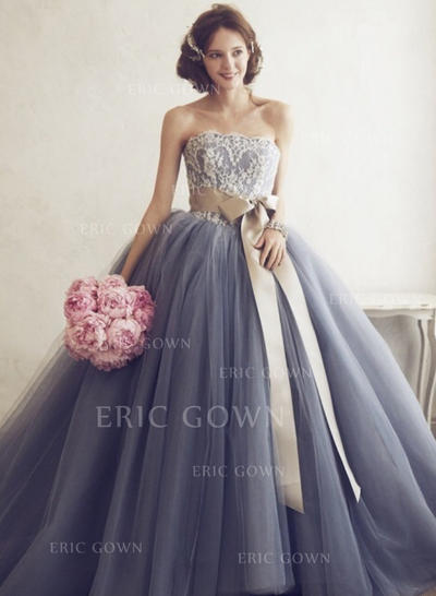 Ball-Gown Sweetheart Floor-Length Prom Dresses With Appliques (018210364)