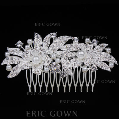 "Combs & Barrettes Wedding/Special Occasion/Casual/Outdoor/Party Alloy 3.94""(Approx.10cm) 2.09""(Approx.5.3cm) Headpieces (042156939)"