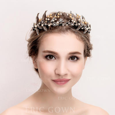 "Tiaras Wedding/Special Occasion Alloy/Imitation Pearls 14.17""(Approx.36cm) 2.76""(Approx.7cm) Headpieces (042158355)"