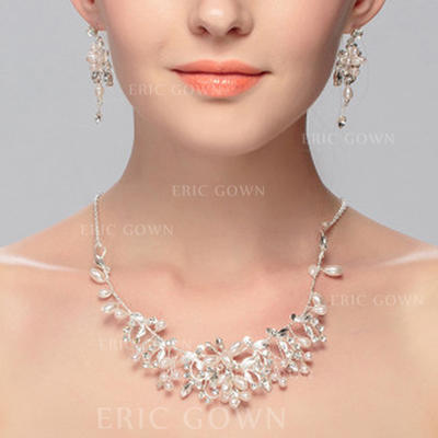 Jewelry Sets Alloy Lobster Clasp Pierced Ladies' Wedding & Party Jewelry (011167419)