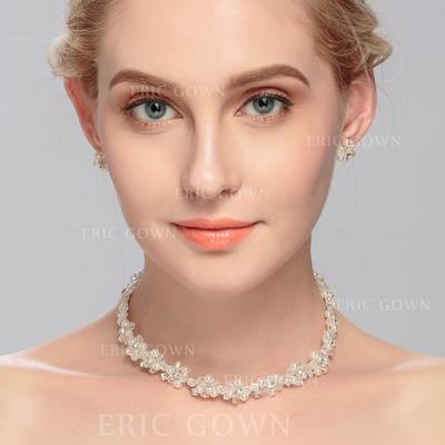 Jewelry Sets Rhinestones/Crystal Lobster Clasp Pierced Ladies' Wedding & Party Jewelry (011166912)
