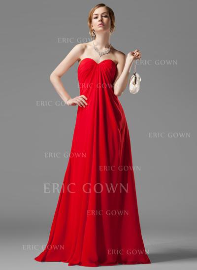 Empire Sweetheart Floor-Length Bridesmaid Dresses With Ruffle Beading (007001058)