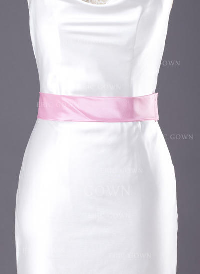 Flower Girl Taffeta Sash Simple Sashes & Belts (015190938)