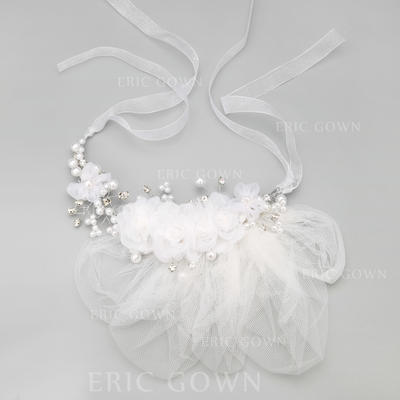 "Headbands Wedding/Special Occasion/Party Alloy/Imitation Pearls/Tulle 9.25""(Approx.23.5cm) 2.36""(Approx.6cm) Headpieces (042154858)"