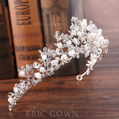 "Tiaras Wedding/Special Occasion Rhinestone/Alloy/Imitation Pearls 12.60""(Approx.32cm) 2.36""(Approx.6cm) Headpieces (042159361)"
