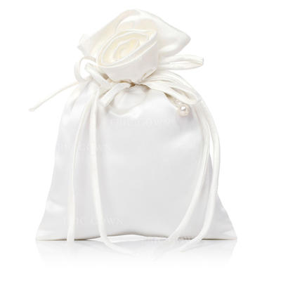 Bridal Purse Wedding Satin Tether closure Gorgeous Clutches & Evening Bags (012184511)