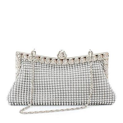 Clutches Wedding/Ceremony & Party Satin Clip Closure Gorgeous Clutches & Evening Bags (012183921)