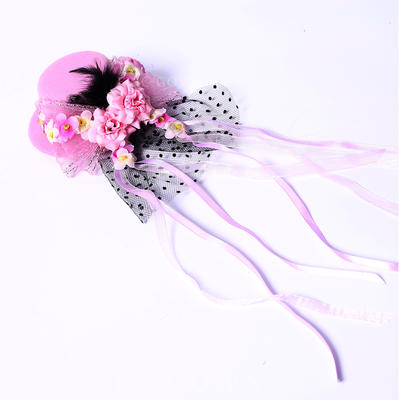 "Fascinators/Flowers & Feathers Wedding/Special Occasion/Party Silk Flower/Satin 3.94""(Approx.10cm) 3.94""(Approx.10cm) Headpieces (042154392)"