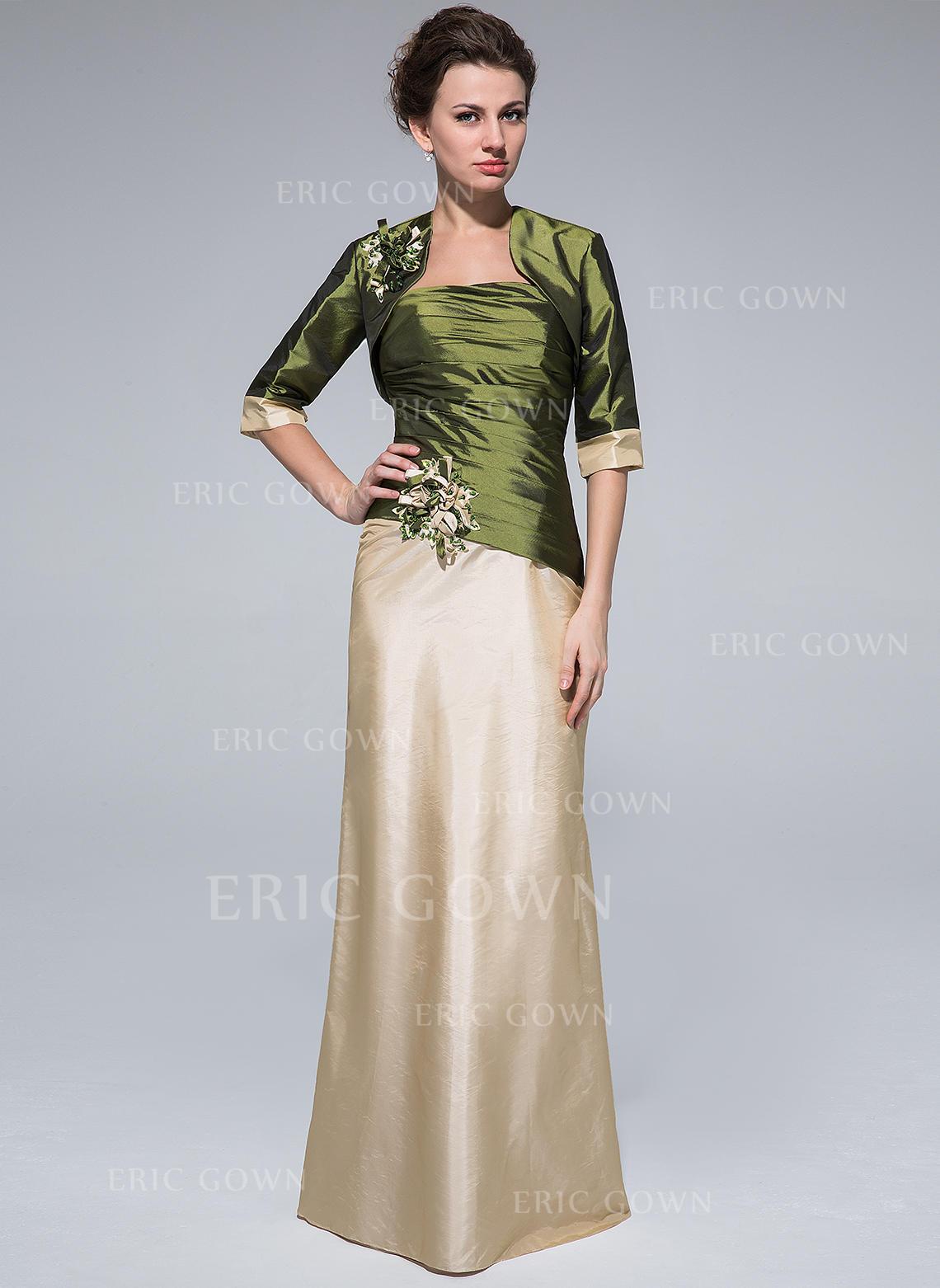 b87a70df390 Sheath Column Taffeta Sleeveless Strapless Floor-Length Zipper Up Mother of  the Bride Dresses. Loading zoom