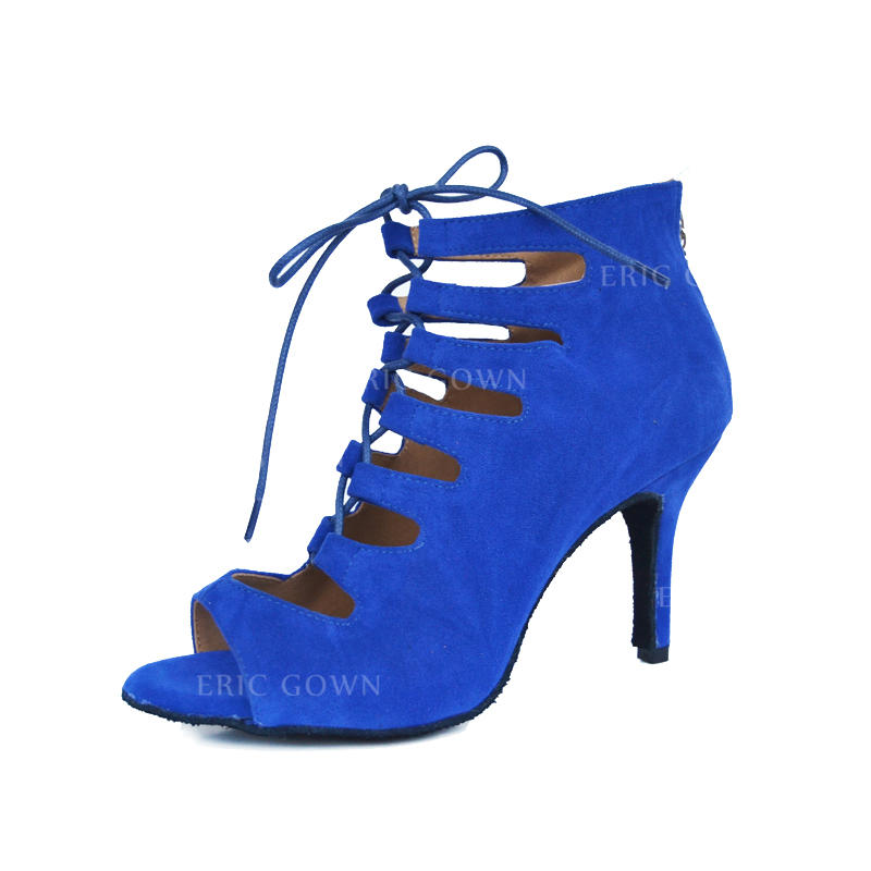 354aeeb86 Women's Latin Heels Sandals Suede Dance Shoes (053179889). Loading zoom