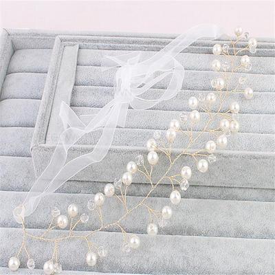 Elegant Fauxen Pärla Pannband (Säljs i ett enda stycke) (042130246)