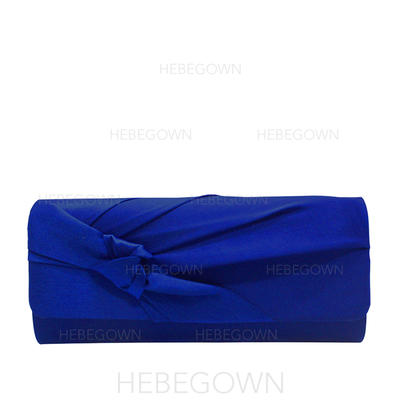 Clutches/Luxury Clutches Wedding/Ceremony & Party/Casual & Shopping/Office & Career Satin Snap Closure Elegant Clutches & Evening Bags (012187815)