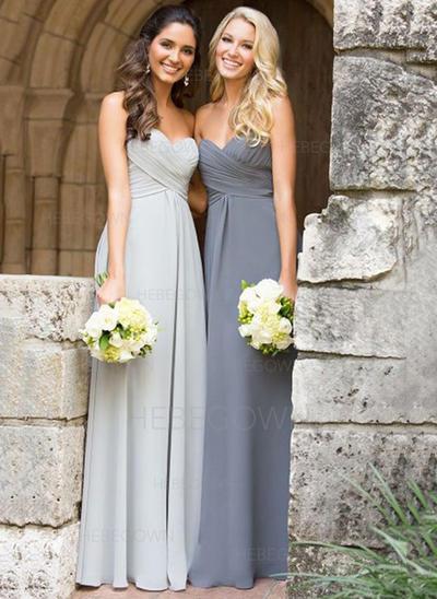 Bridesmaid Dresses A-Line/Princess Sleeveless Floor-Length (007144954)