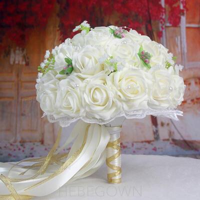 """Brautsträuße/Brautjungfer Blumensträuße Hochzeit Satin 12.99""""(Ungefähre 33cm) Brautstrauß (123189710)"""