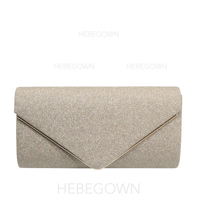 Clutches/Luxury Clutches Wedding/Ceremony & Party/Casual & Shopping/Office & Career Sparkling Glitter Magnetic Closure Elegant Clutches & Evening Bags (012187801)