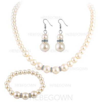 Smykker Sett Imitert Perle Gjennomboret Damene ' Klassisk stil Bryllup- & Festsmykker (011129640)