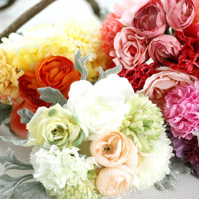 "Bridal Bouquets Round Wedding/Party/Casual Satin 10.63""(Approx.27cm) Wedding Flowers (123189985)"