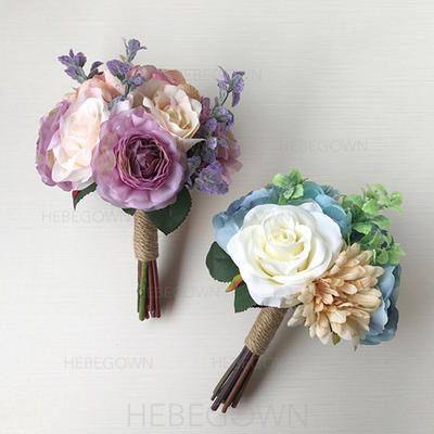 "Bridal Bouquets Wedding 9.84""(Approx.25cm) 7.09""(Approx.18cm) (Sold in a single piece) Wedding Flowers (123190564)"