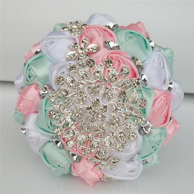 "Boutonniere Free-Form Wedding/Party/Casual Satin 7.09""(Approx.18cm) Wedding Flowers (123190540)"