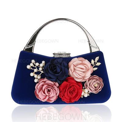 Elegant Sammet Grepp/Handledsväskor/Totes väskor/Brudväska/Mode handväskor/Makeup Väskor/Lyx Bag (012141822)