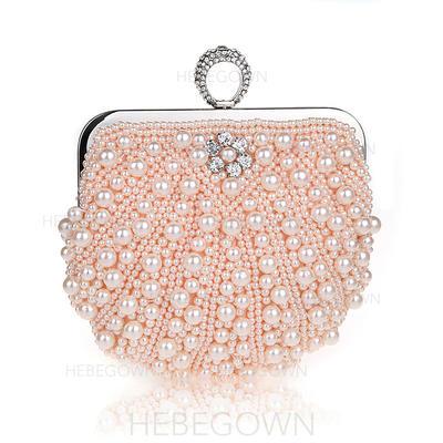 Elegant Pärla Grepp/Handledsväskor/Totes väskor/Brudväska/Mode handväskor/Makeup Väskor/Lyx Bag (012141836)