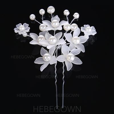 """Haarnadeln Hochzeit/besondere Anlässe Legierung/Faux-Perlen 3.15""""(Ungefähre 8cm) 2.76""""(Ungefähre 7cm) Kopfschmuck (042158657)"""