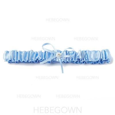 Strumpfbänder Damen Hochzeit/Lässige Kleidung Satin mit Bänder/Perle Strumpfband (104195932)