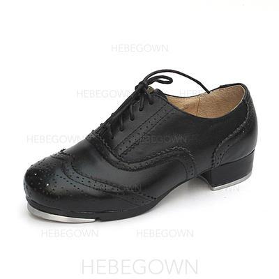 Unisexmodell Trykk Flate sko Egte Lær Dansesko (053087768)