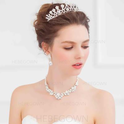 """Tiaror Wedding/Särskilda tillfällen Legering 4.72""""(Ungefärlig 12cm) 2.76""""(Ungefärlig 7cm) Hårsmycken (042096374)"""