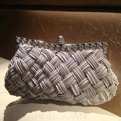 Charmen Kristall/Strass Grepp/Handledsväskor/Mode handväskor (012103353)