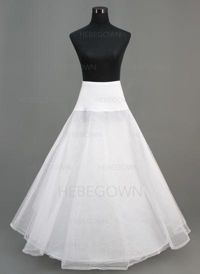 Unterröcke Knöchellang Nylon/Tüll Netting A-Leitung Gleiten/Volle Kleid Gleiten 2 Ebenen Reifröcke (037190674)