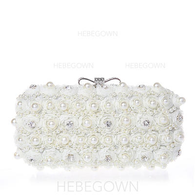 Clutches Wedding/Ceremony & Party Lace Clip Closure Pearl Style Clutches & Evening Bags (012185337)