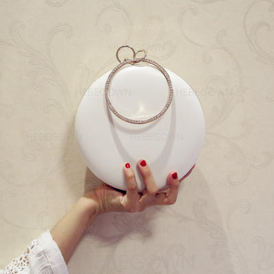"""Satchel/Totes Wedding/Ceremony & Party PU Kiss lock closure 7.09""""(Approx.18cm) Clutches & Evening Bags (012187780)"""