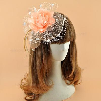Polyester mit Feder Kopfschmuck Elegant Damen Mützen (196194878)