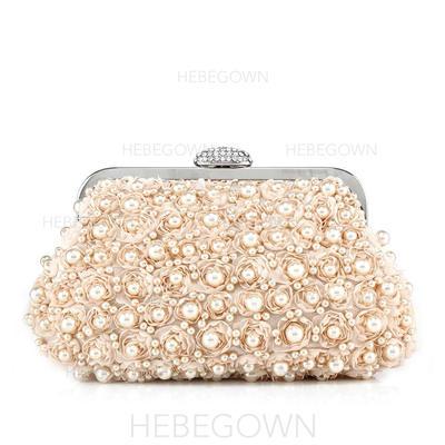 Handtaschen Hochzeit/Zeremonie & Party Satin Stutzen Verschluss Anhänger Clutches & Abendtaschen (012185273)