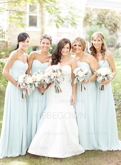 Bridesmaid Dresses Sweetheart Chiffon A-Line/Princess Sleeveless Floor-Length (007144983)