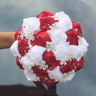 "Bridal Bouquets Round Wedding/Party Satin 9.84""(Approx.25cm) Wedding Flowers (123190067)"