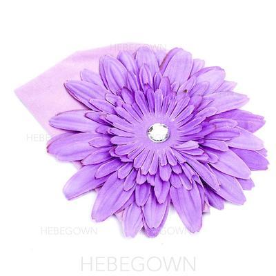 Nydelig/Blomst Formet Silke blomst/Bomull/Akryl Hatt (042072089)