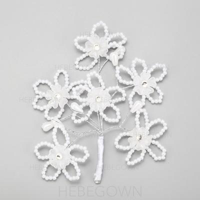 Blomst Formet Legering/Imitert Perle Hårnåler (042091572)