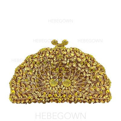 Gorgeous Kristall/Strass/Legering Grepp/Lyx Bag (012122946)