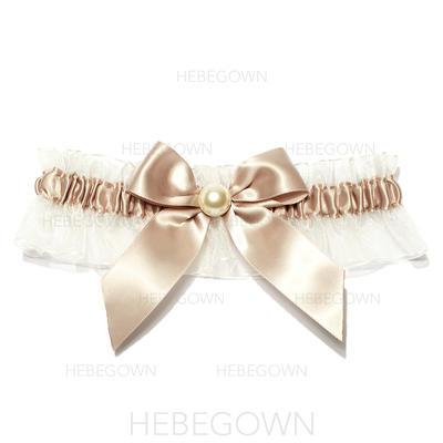 Strumpfbänder Damen Hochzeit/besondere Anlässe Satin mit Perle Strumpfband (104195979)