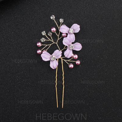 Hårnålar/Halsduk Wedding Legering Elegant (Säljs i ett enda stycke) Hårsmycken (042131394)
