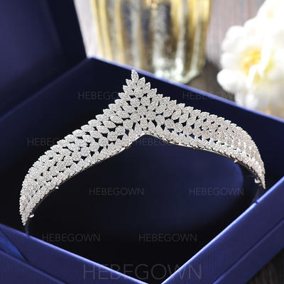 "Tiaras Wedding/Special Occasion/Casual/Outdoor/Party/Carnival/Art photography Alloy 4.92""(Approx.12.5cm) Beautiful Headpieces (042159464)"