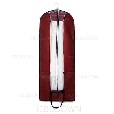 Kleidersäcke Länge Reißverschluss in der Mitte Vließstoff Burgunderrot Kleidersack für Hochzeitsmode (035192303)