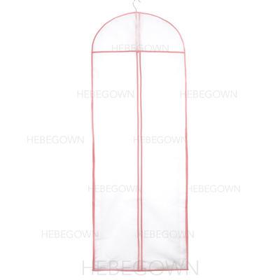 Kleidersäcke Kleid Länge Reißverschluss in der Mitte Tüll/Vließstoff Weiß Kleidersack für Hochzeitsmode (035192272)
