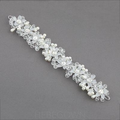 """Pannebånd Bryllup/Spesielle anledninger/Party Crystal/Imitert Perle/Plast 10.04""""(Ca. 25.5cm) 1.57""""(Ca.4cm) Hodepynt (042073392)"""