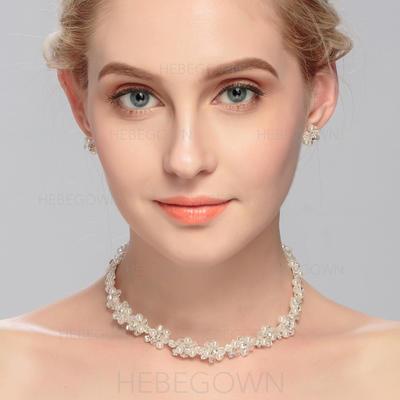 Smykker Sett Rhinestones/Crystal Hummer Låsen Gjennomboret Damene ' Bryllup- & Festsmykker (011080537)