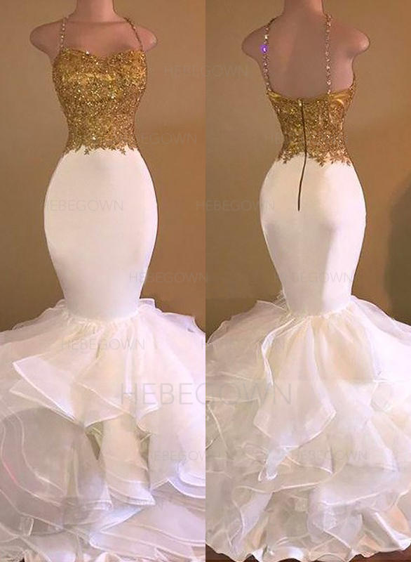 62975214194 Glamorous Jersey Prom Dresses Trumpet Mermaid Floor-Length V-neck  Sleeveless (018148502. Loading zoom