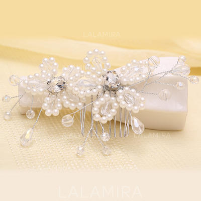 """Combs & Barrettes Wedding/Party Crystal/Imitation Pearls 5.53""""(Approx.14cm) 2.37""""(Approx.6cm) Headpieces (042158172)"""